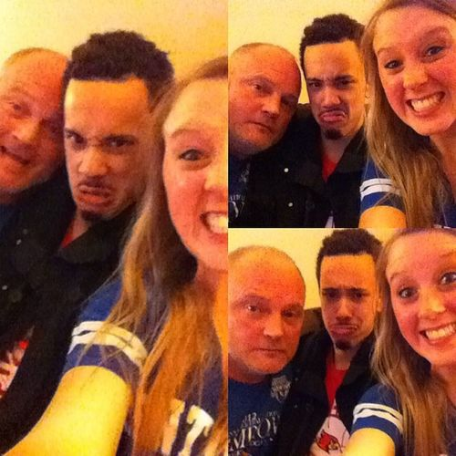 Selfies with daddy. GoCats BBN