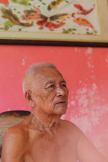 Close-up Old Man Old Man Portrait Old Man Sitting Old Man Waiting Portrait White Haired Man Wrinkled Skin