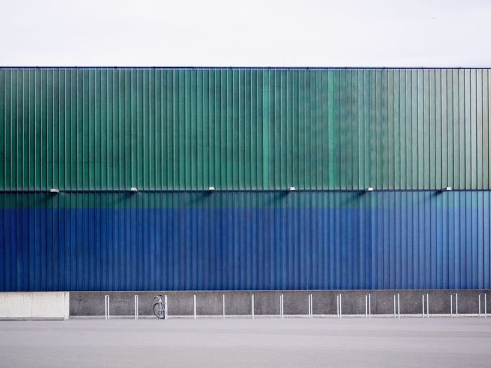 Day No People Architecture Built Structure Wall - Building Feature Outdoors Metal Building Exterior Pattern Blue