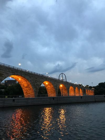 Sky River Waterfront Transportation Building Exterior Nature Illuminated Arch No People Reflection City Travel Destinations Outdoors Sky River Waterfront Transportation Building Exterior Nature Illuminated Arch No People Reflection City Travel Destinations Outdoors