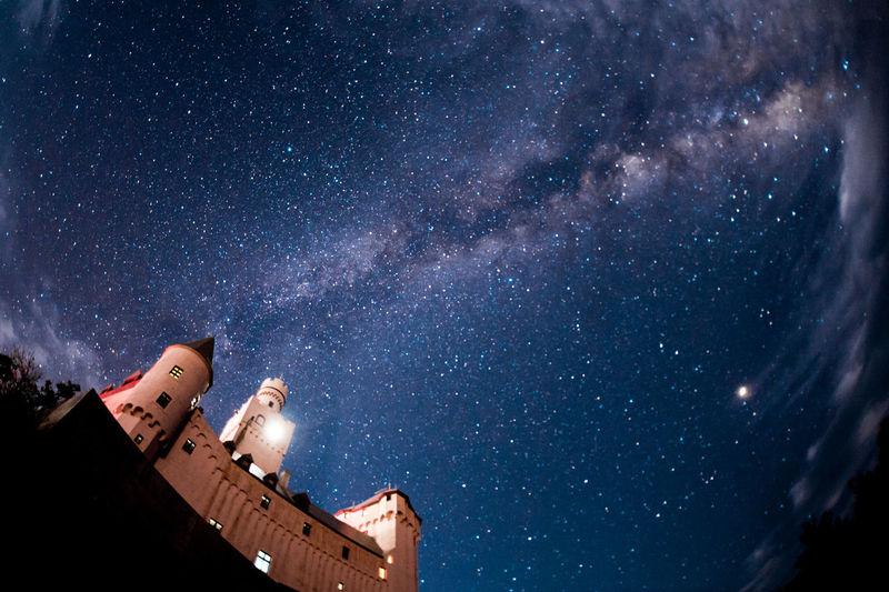 Castle Japan Night Photography Nightphotography Astronomy Galaxy Gallery Low Angle View Milky Way Night Night View Sky Space Star Star - Space Star Field Starscape