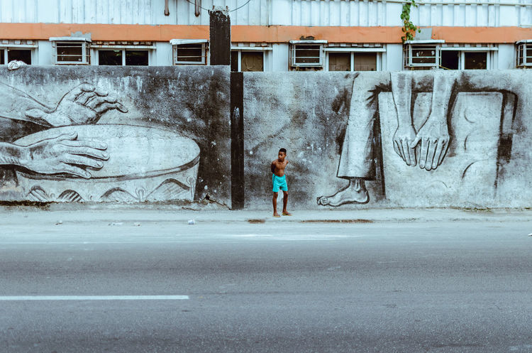 Suenalas Graffiti Havana Havana, Cuba Adult Adults Only Architecture Botany Day Full Length Mural One Person Outdoors People Real People Standing Streetart Streetphotography Young Adult #FREIHEITBERLIN