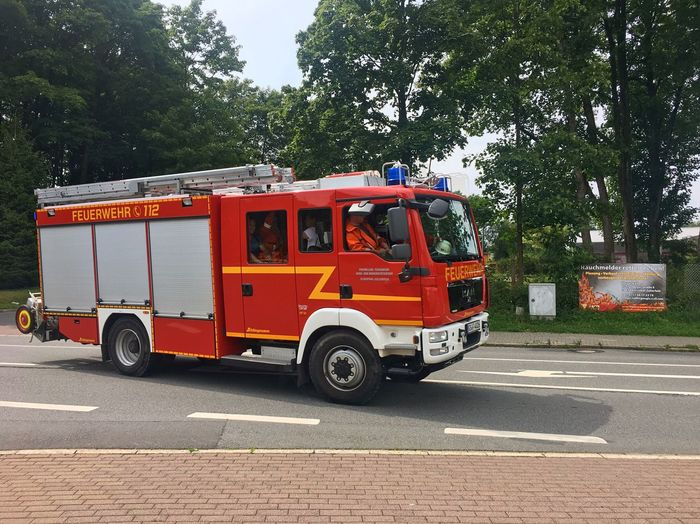 A fire truck. Fire Engine Accidents And Disasters Rescue Safety Urgency Rescue Worker Firefighter Emergency Fire Department Fire Services Feuerwehr