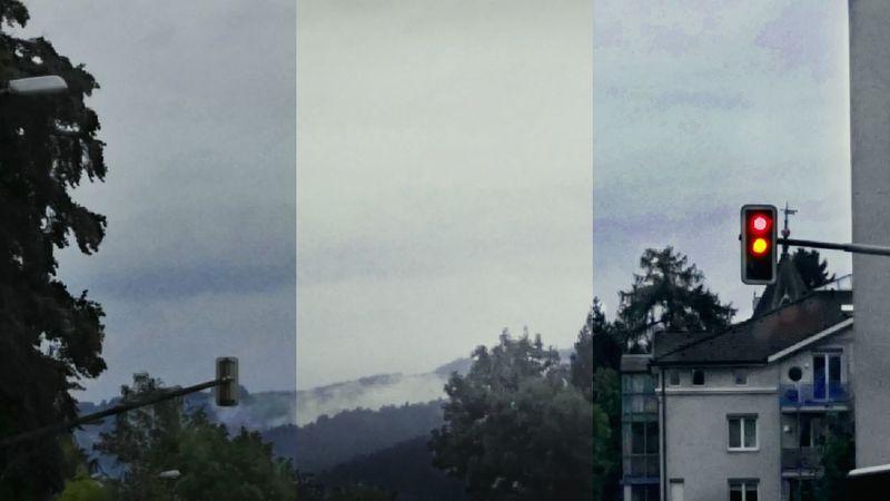 Triptychon Dreierlei Licht Schatten & Nebel-Wolken
