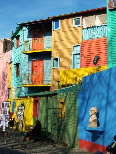 La Boca, 2011. Colours Buenosaires Built Structure Building Exterior Architecture Building Day No People Multi Colored City