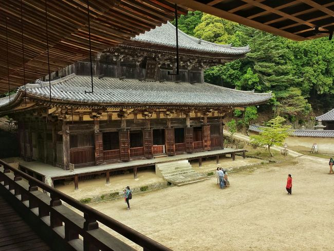 view of Jogyodo from inside Jikido -- one of the few where they allow people to climb upstairs || Engyoji Temple Mount Shosha Travels Traveling Travelling The Last Samurai Explore Nippon