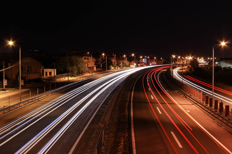 Highway long exposure Long Exposure Night Speed Traffic Highway Multiple Lane Highway Vehicle Light Road My Best Photo