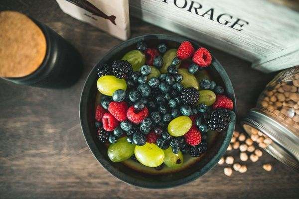 Berry Fruit Bowl Close-up Food Food And Drink Freshness Fruit Healthy Eating High Angle View Indoors  Raspberry Table