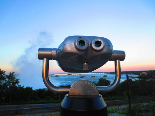 Binoculars Coin-operated Binoculars Landscape View Niagara No People Outdoors Sky Sunset Telescope
