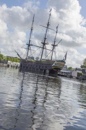 Doen VOC Ship At The Scheepvaartmuseum Amsterdam The Netherlands 2018 Amsterdam Netherlands Scheepvaartmuseum Boat Cloud - Sky Doen Voc Dutch Holland Nautical Vessel No People Sailboat Ship Sky Transportation Water