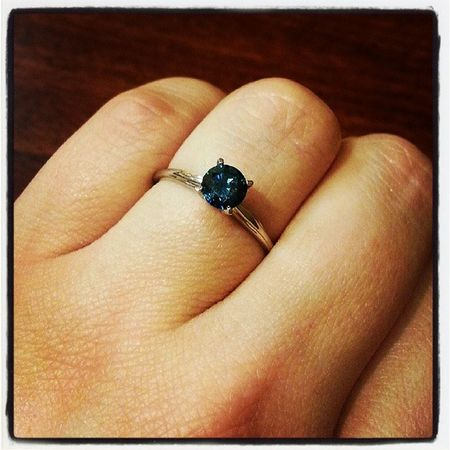 Well, I've been I informally engaged for quite some time. But now, it's real! @quiethenry29 and I picked out my blue diamond engagement ring and I am never taking this thing off lol. Our date is tentatively set for February 23, 2014. Can't wait to be Mrs. Luedara! Engaged FutureWife Loveforever Soulmates