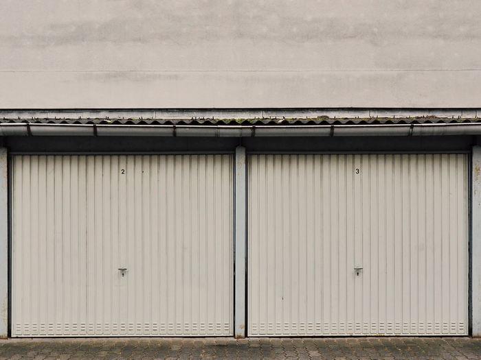 Closed Doors On Garage