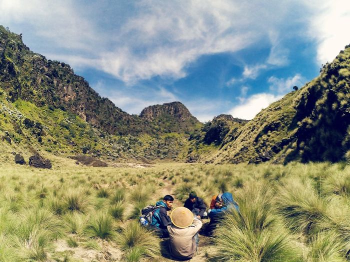 road to submit 3312mdpl Mountain Resting Climbing A Mountain Sumbing Indonesia_photography Landscape Natural Hobby Mountain Tree Men Sitting Sky Landscape Hiking First Eyeem Photo