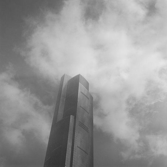 Rolleiflex Film Fujifilm Acros100 City Sky Building Exterior Blackandwhite Guangzhou China