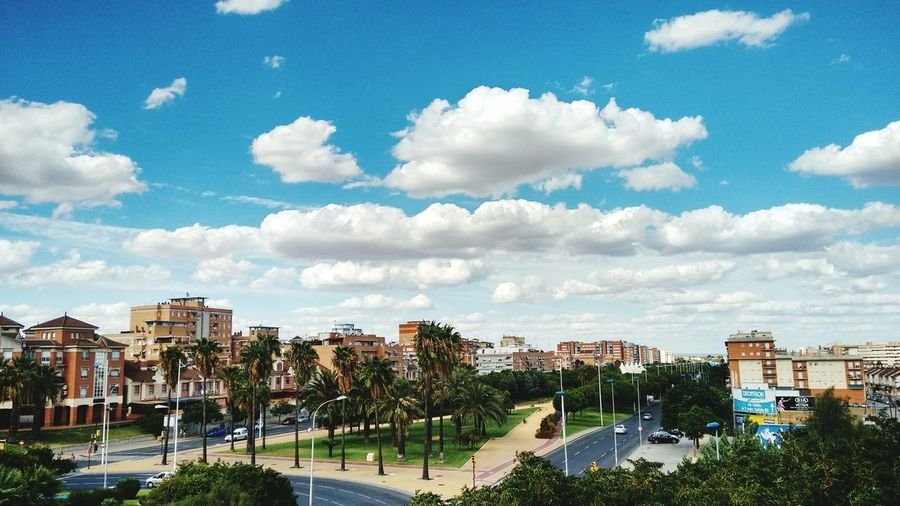 September sky Cityscape Sky Cloud - Sky Cloud Tall - High Battle Of The Cities Huelvalaluz Huelva Huelva, Spain Building Exterior Architecture Built Structure Sky City Cloud - Sky Tree Cityscape Cloud Day Outdoors Residential District Cloudy Blue City Life Cloudscape