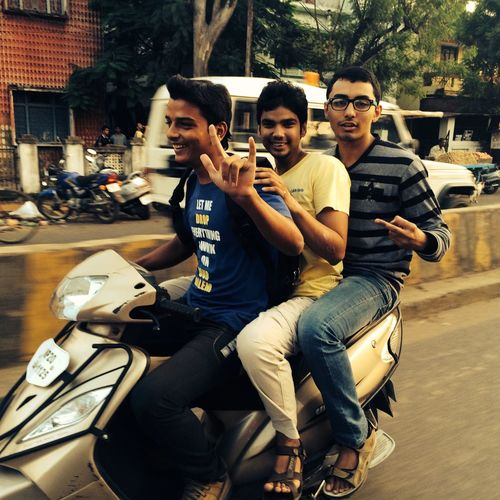 Urban Escape Fun Ride Random People Enjoying Life