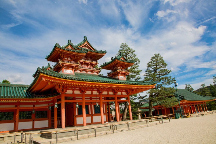 Fushimi Inari-taisha Shrine in Kyoto Japan Shrine Architecture Building Exterior Built Structure Cloud - Sky Day Kyoto Nature No People Outdoors Roof Sky Tree