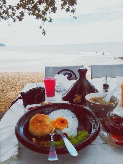 Moroccan breakfast beach front breezy setting Beachfrontvilla Travel Photography Hellosmoothie Marakesh Morocco