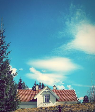 A House in Norway ... Some Time Ago Scandinavia Clouds Sky Sunny Spring дом норвегия