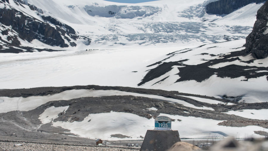 Glacier Recession - Showing there the toe of the athabasca glacier was in 1925 and where it is now. Banff National Park  Global Warming Melting Athabasca Glacier Canada Columbia Icefields Enviroment Enviromental Issue Glacier Jasper National Park Melting Ice The Photojournalist - 2018 EyeEm Awards