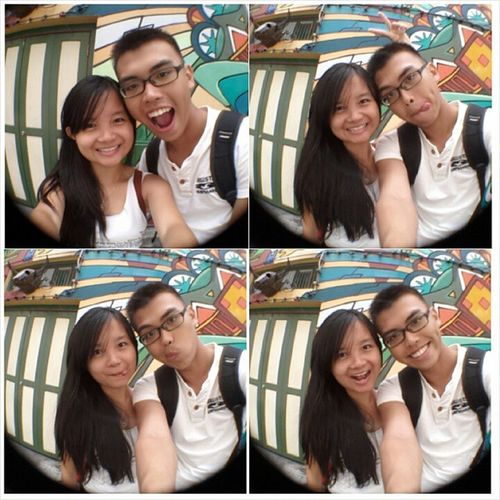 Love for the Graffiti Drawing here , Love for the new Fish eye lens and Love for you, @jyangsaw hehehe. Outtoeat Saturday Wellspent Hajilane potd hehehe lovebf
