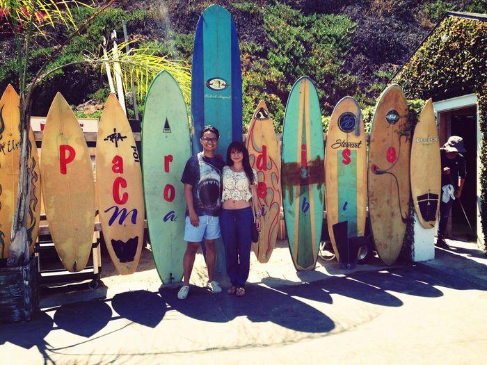 Surfboards Enjoying The Sun Summertime On The Beach