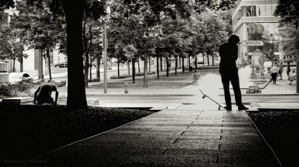 """""""Courage is grace under pressure."""" Montréal EyeEm Best Shots - Black + White Blackandwhite Street Photography Bw_collection Skateboarding EyeEm Best Shots People And Places"""