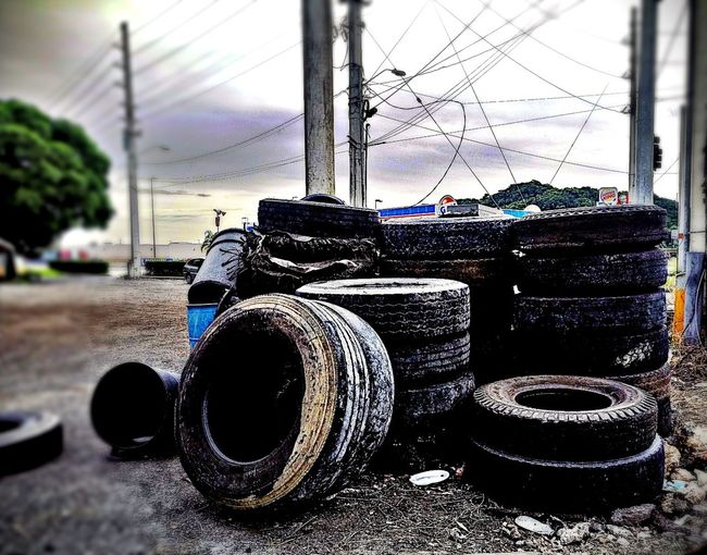 """after a long week"", from the rubber series, 2017 Day Outdoors No People Sky Close-up ArtWork Minimalism Public Art Conceptual Arts Culture And Entertainment Public Intervention Art Field Consumerism Art Is Everywhere Multi Colored Tires Ina Pile The Week On EyeEm Investing In Quality Of Life EyeEmNewHere"