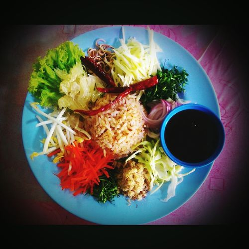 Southern thai rice salad Food Dinner Rice Salad Eating Southernthai Wow!!😋 Yummy Myhome Myhappiness💘