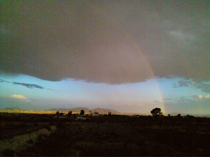 Rainbow Rainbow Sky Clouds And Sky Murcia Nature Landscape_photography Spain_greatshots Landscape Nature Photography [ No People The Great Outdoors - 2016 EyeEm Awards Nature's Diversities Weather Stormy Sky