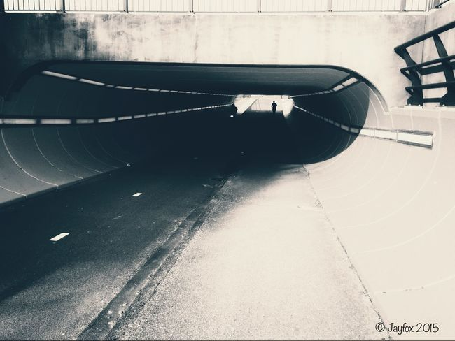 Tunnel Running Blackandwhite Light And Shadow IPhoneography
