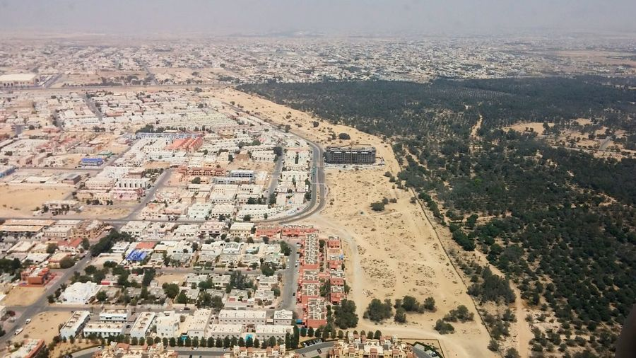 Seeing The Sights Top View Flight View Areal View Dubai Dubai Bubai Desert And City Urban Landscape Developing Bird Perspective