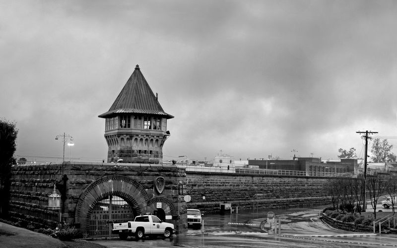 Folsom Prison Against Cloudy Sky