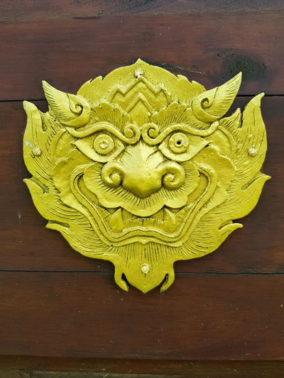 Architecture Art And Craft Giant Wood Spiders Giant Wall Giant Wall Decoration Thai Thailand Close-up Giant Faces Giant Thai Giant Wood Spider No People Wood
