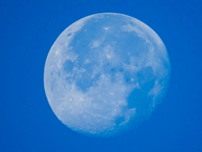 Day Moon Full Moon Moon Moon In The Day Astronomy Beauty In Nature Blue Close-up Day Moon Moon In The Daytime Moon Surface Nature No People Outdoors Satellite View Scenics Sky Space Tranquil Scene Tranquility