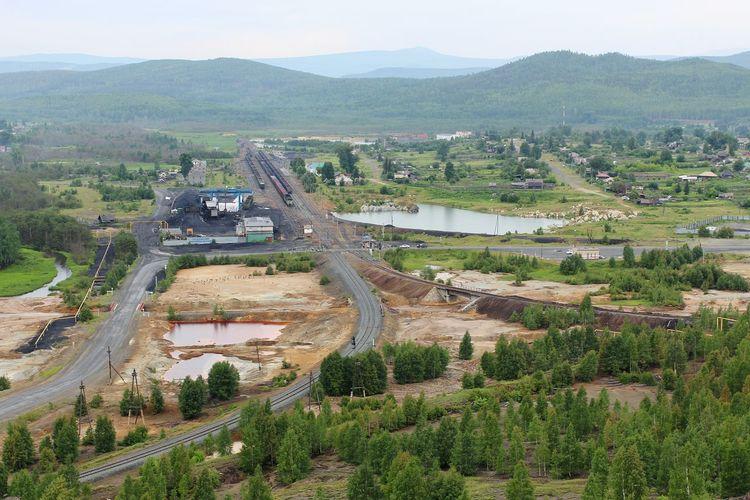 Landscape Ural Railway Mountains Forest