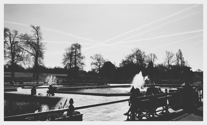 Italian Gardens Contrails Or Chemtrails. Who Knows..?