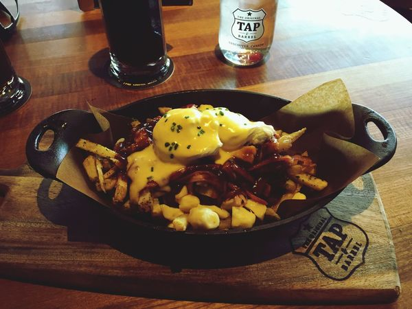 Poutine Eggs Benedict for Breakfast ... Delicious Pub Grub Eating Great Food Sunday Morning Enjoying Life In My Mouf