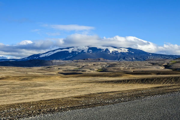 Beauty In Nature Cloud - Sky Day Hekla Iceland Landscape Lavafield Mountain Mountain Range Nature No People Outdoors Scenics Sky Snow Tranquility Volcanic Landscape Vulcano