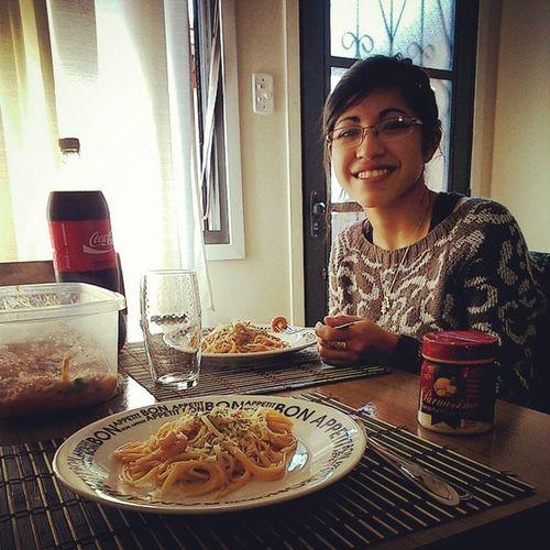 A saudade era tanta que ela veio me visitar e até comeu o almoço feito por mim! Hahahaha Bochechuda Maninha