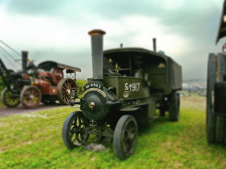 Transportation Land Vehicle Mode Of Transport Green Color No People WW1 Steam Lorrie Old-fashioned Close-up Lens Blur Transportation Great Dorset Steam Fair Heavy Haulage Stationary
