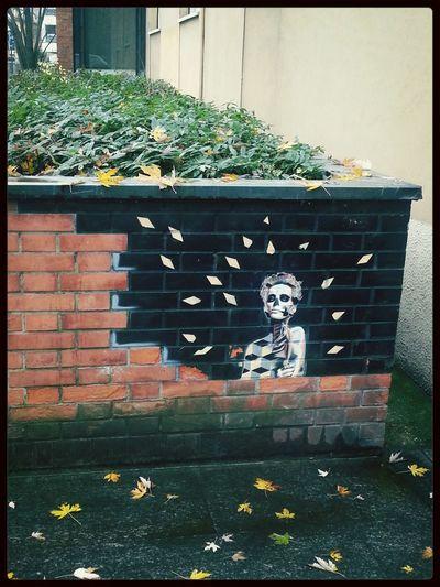 Beautiful street art! Streetart Fallingforyou Fallingtopieces Beautiful View