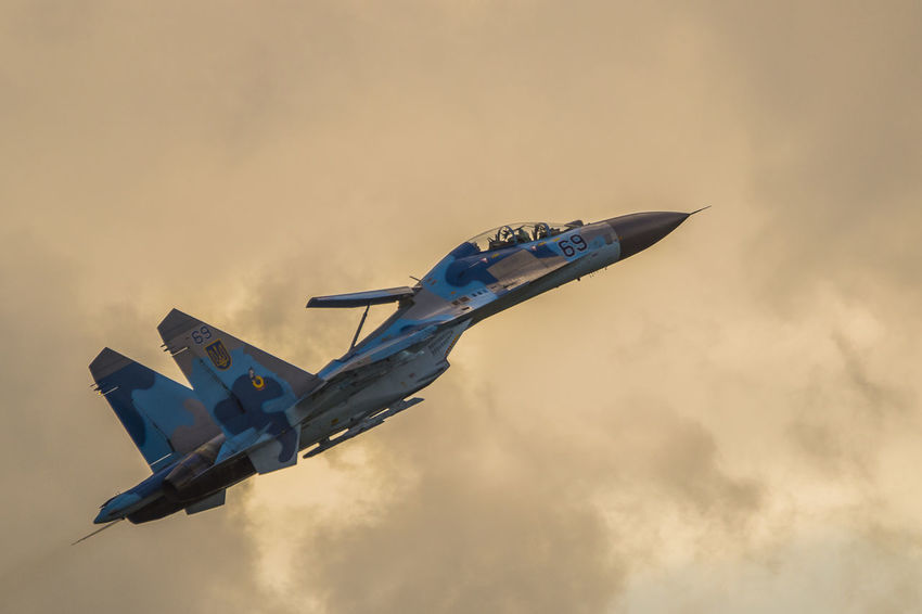 Airshow Aviation Clouds Jetfighter Military Russian Sky Su27