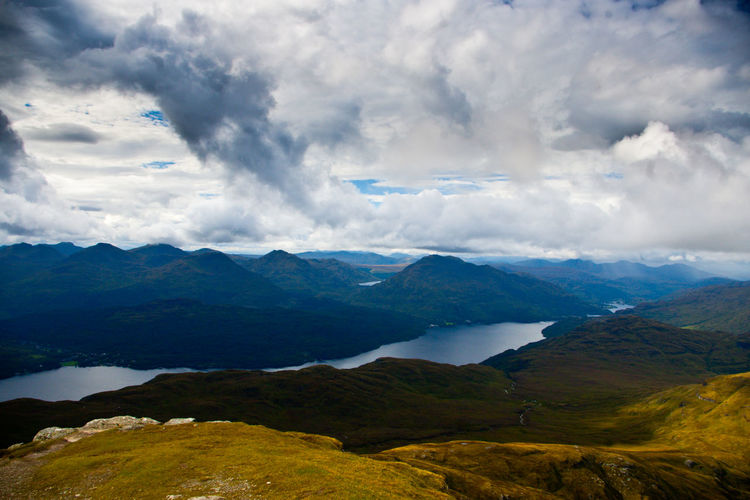 Ben Lomond In Scotland Beauty In Nature Cloud - Sky Day Landscape Mountain Mountain Range Munro Nature No People Outdoors Scenics Sky Tranquil Scene Tranquility