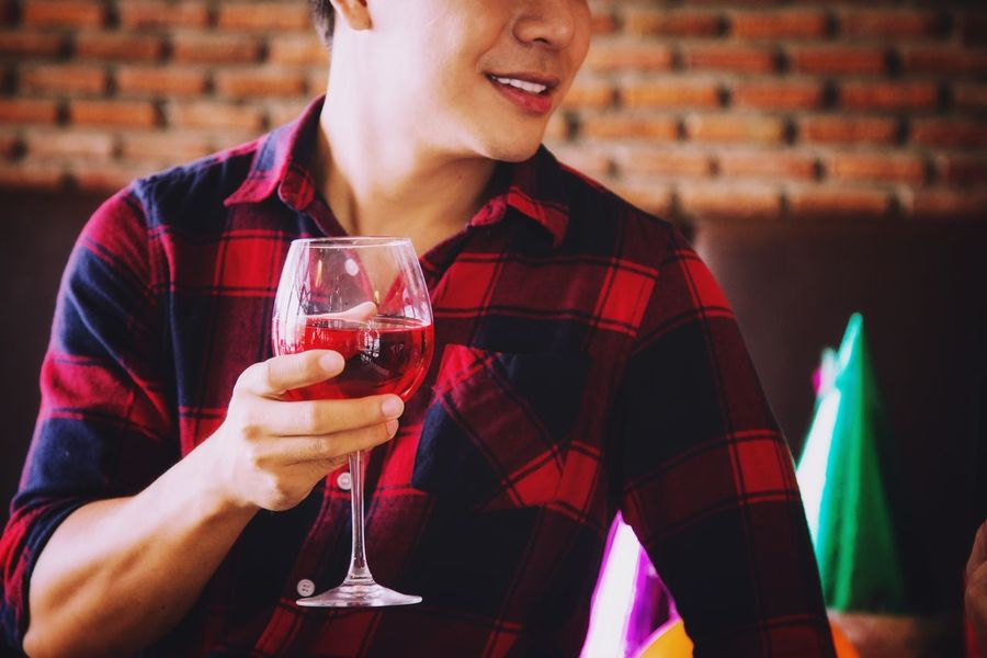 Drink Wine Wineglass Alcohol Red Wine Drink Drinking Drinking Glass Real People Food And Drink Celebration Indoors  Enjoyment Holding Refreshment Red One Person Winetasting Close-up Party - Social Event Well-dressed