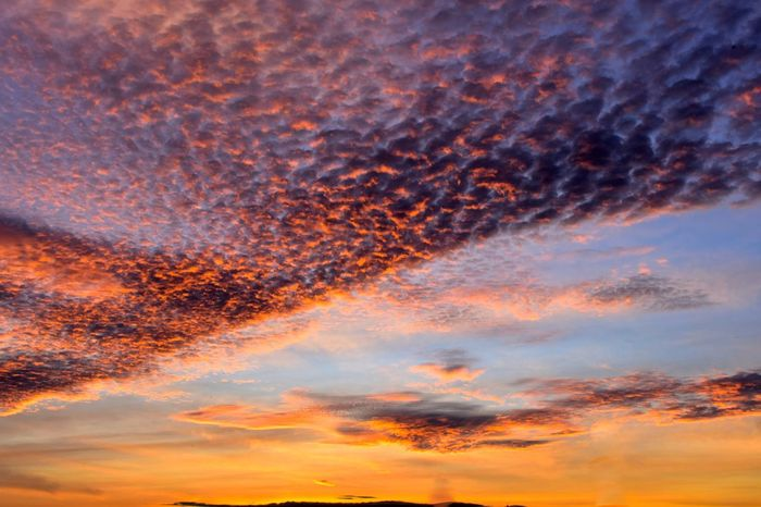 beautiful cloudy sky at sunrise Beautiful Clouds & Sky <3 Beautiful Cloud Beauty In Nature Cloud - Sky Nature No People Orange Color Outdoors Sky Sunset