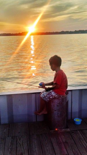 First time fishing Conneaut Lake, PA. Relaxing Streetfamily Rubyribbonstreet Midway Beach