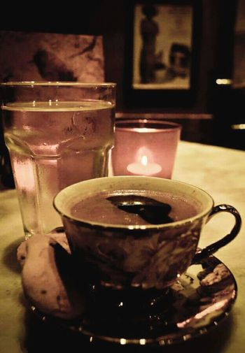 Liquid Lunch Hanging Out Coffee Coffee Time Coffee Cup Coffeelover Greek Coffee  Cafe Candle Athens, Greece Athens City Liquid Drinking Coffee Drinking Coffee Break Coffee And Sweets Coffeebreak Coffee ☕ Retro Taking Photos Enjoying Life Close-up No Flash Candle Light Porcelain