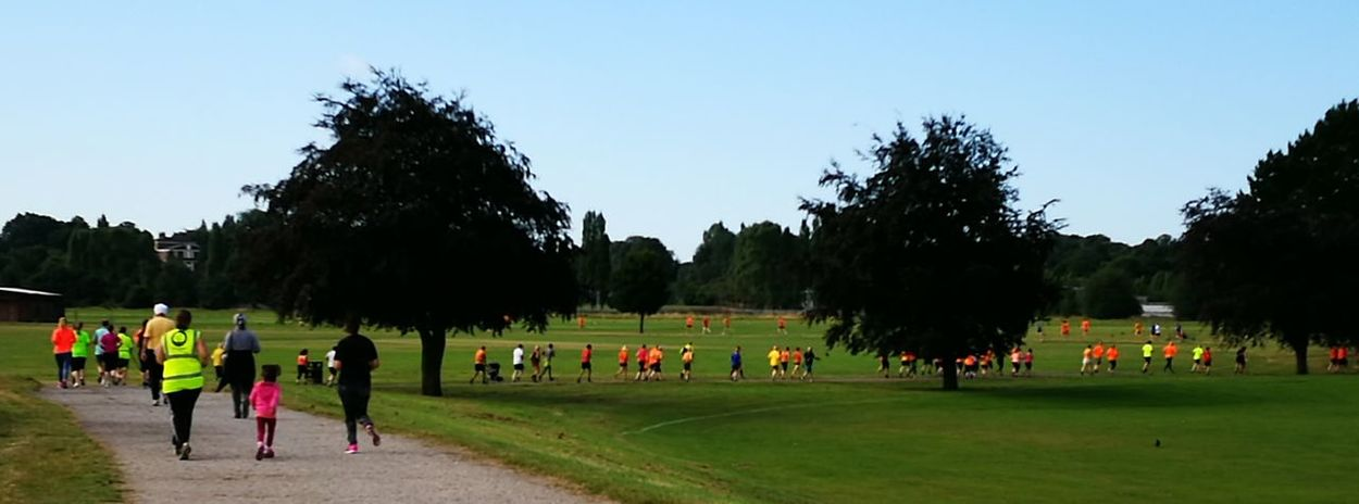 Colour Of Life Parkrun 'orange helps you run faster' Perry Hall Park
