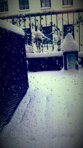 Snow balcony Snowy Teardrops Nearly Spring